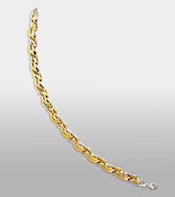 14K Gold And Sterling Silver Link Bracelet