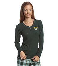 College Concepts Long Sleeve Green Bay Packers Top