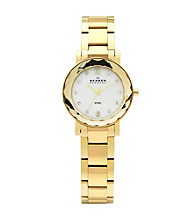 Skagen Denmark Women's Glass Facet Mesh Gold Watch