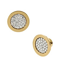 Michael Kors® Goldtone Pave Slice Stud Earrings