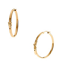 Michael Kors® Goldtone Medium Buckle Hoop Earrings