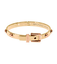 Michael Kors® Rose Goldtone Astor Hinge Buckle Bangle