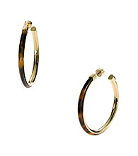 Michael Kors® Tortoise Acetate Large Hoop Earrings