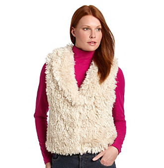 Betsey Johnson® Curly Q Fur Vest