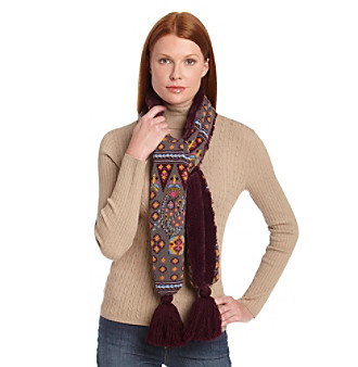 MUK LUKS® Paisley Boho Fur Backed Muffler