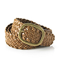 Nine West® Braided Oval Buckle Belt - Brown