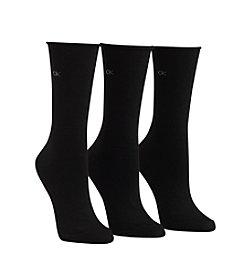 Calvin Klein 3-Pack Roll Top Crew Socks