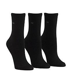 Calvin Klein 3-Pack Black Crew Socks