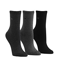 Calvin Klein 3-pk. Crew Socks - Graphite Charcoal Black