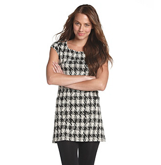 Spense® Houndstooth Ponte Tunic