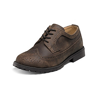 "Florsheim® Boys' ""Valco Junior"" Wing-Tip Oxfords"