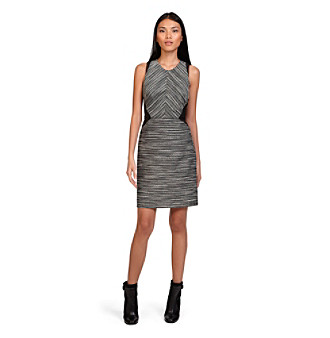 Kenneth Cole® Mixed Media Flare Dress