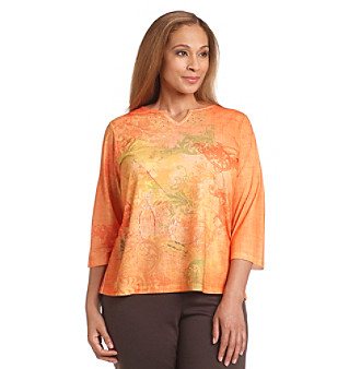Breckenridge® Plus Size Golden Nugget Printed Tee