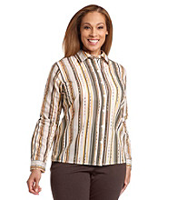 Breckenridge® Plus Size Striped Shirt