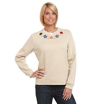 Breckenridge® Fall Cluster Crewneck Fleece Pullover