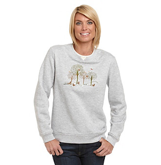 Breckenridge® Fall Friends Crewneck Fleece Pullover