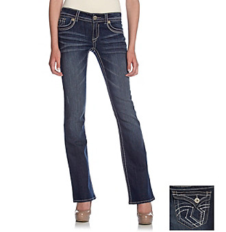 Hydraulic® Juniors' Lola Slim Bootcut Jeans with Flap Back Pockets