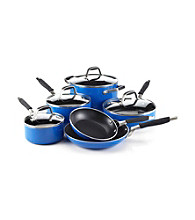 Guy Fieri Nonstick 10-pc. Blue Cookware Set