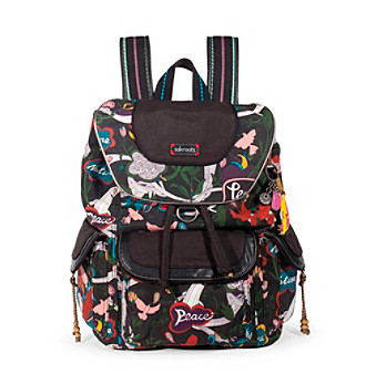 sakroots™byTheSak® Artist Circle Black Peacce Print Backpack