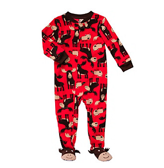 Carter's® Boys' 12M-5T Red Moose Print Footie Pajamas