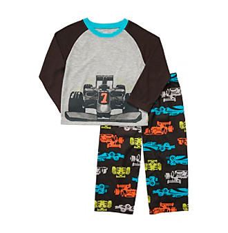 Carter's® Boys' 4-12 Grey/Brown 2-pc. Race Car Pajamas Set