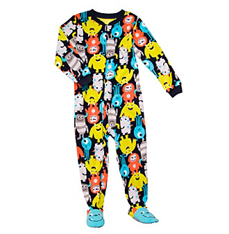 Carter's® Boys' 4-7 Navy Monster Print Footie Pajamas