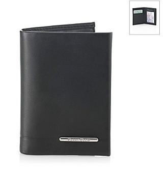 Perry Ellis® Men's Black Maine Slim Bifold Wallet