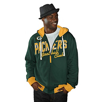G-III Men's Green Bay Packers Flight Full-Zip Hoodie