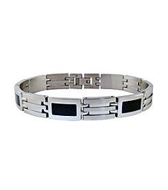 Link Bracelet with Resin