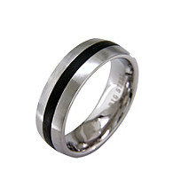 Band Ring with Black Ion Plating
