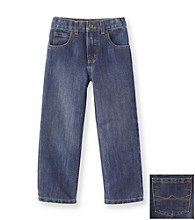 Ruff Hewn Boys' 2T-7 Straight Leg Wax-finish Jeans - Meduim Indigo