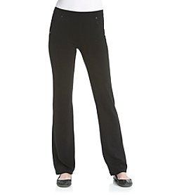 Calvin Klein Performance Black Pull-On Bootleg Ponte Pants