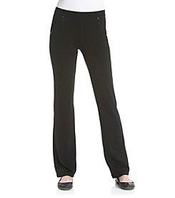 Calvin Klein Performance Black Pull-On Bootleg Ponte Pants