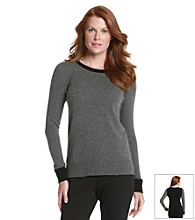 Vertical Design® Cashmere Blend Colorblocked Pullover Sweater