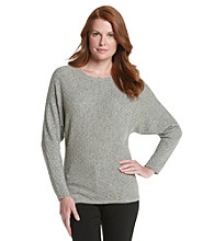 Vertical Design® Cashmere Blend Textured Dolman Pullover