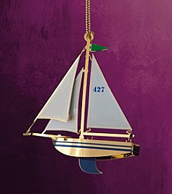 ChemArt Seaside Collection Sailboat Ornament