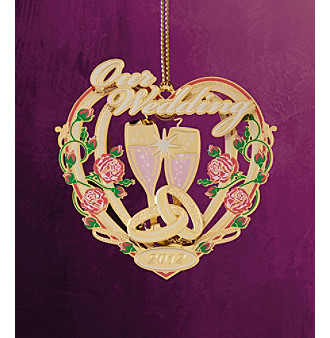 "ChemArt ""Our Wedding 2012"" Ornament"