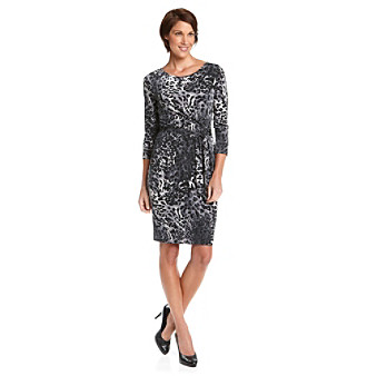 Anne Klein® Petites' Leopard Print Wrap Dress