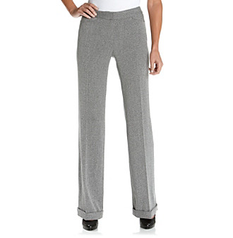 Anne Klein® Petites' Tweed Wide-Leg Pant