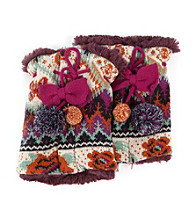 MUK LUKS® Boho Pommy Boot Sweaters - Purple Multi