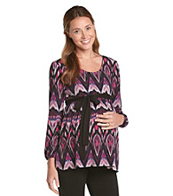 Three Seasons Maternity™ Belted Print Top