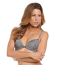 B intimates Deep Plunge Push-Up Bra - Purple Animal