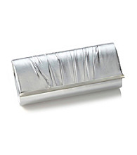 La Regale® Metal Bar Clutch - Silver