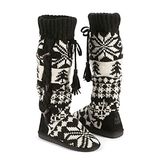 "MUK LUKS ""Mishka"" Tall Knit Boot with Side Button Detail"