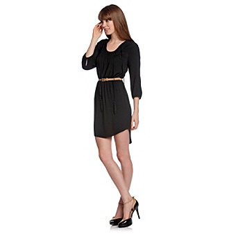 Kensie® Crepe Tie-Neck Dress