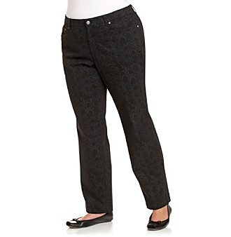 Jones New York Sport® Plus Size Five-Pocket Printed Jeans