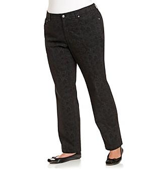 Jones New York Sport® Plus Size Five-Pocket Printed Jeans