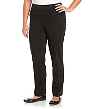 Rafaella® Plus Size Pants with Zipper Pockets