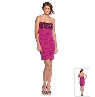 Ruby Rox® Juniors' Fuchsia Sequined Dress