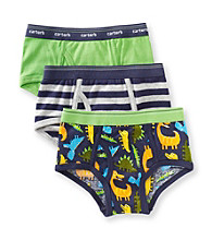 Carter's® Boys' 2-5 Green/Navy 3-pk. Dinosaur Briefs